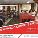 Alcaldesa de Morropón se reune con comerciantes del mercado