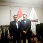 Alcalde de la Provincia de Morropón, Ing. Mio Reyes se reúne con Ministro del Interior