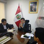 Alcalde Provincial se reúne con Ministro de Agricultura para tratar temas de interés para la provincia