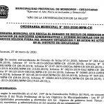 ORDENANZA 003-2020 que regula el horario de Recojo de Basura en Chulucanas