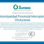 SUNASS RECONOCE A MUNICIPALIDAD DE CHULUCANAS