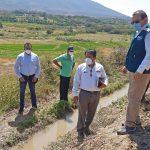 Jefe de la ANA verifica avance de mantenimiento de canales de riego y drenes en valle de San Lorenzo