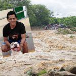 Policía Héroe va participando del rescate de cuatro personas  en los ríos de Chulucanas